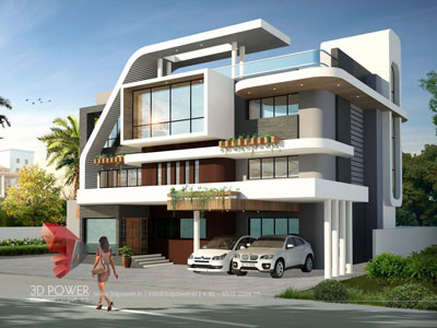 3d architectural villa design