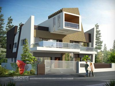 3d architectural villa modeling