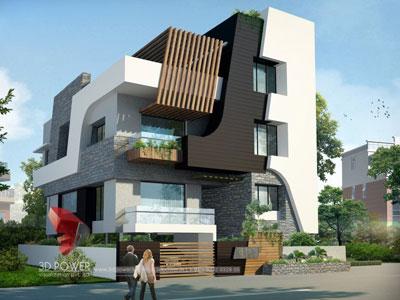 3d architectural villa models