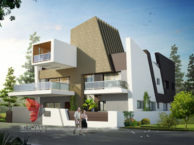3d architectural villa rendering