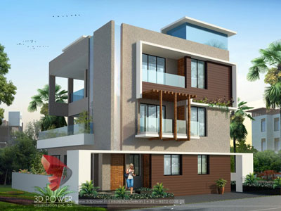 3d Bungalow Rendering Models