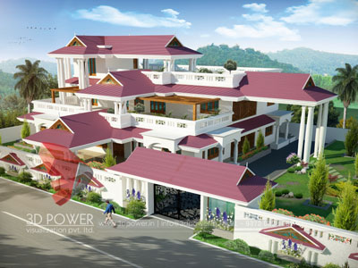 3d Villa Exterior Rendering