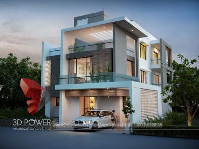 3d villa rendering animation