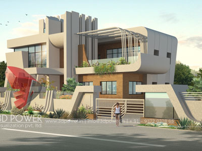 3d Villa Rendering Design