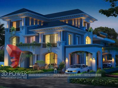 villa rendering visualization