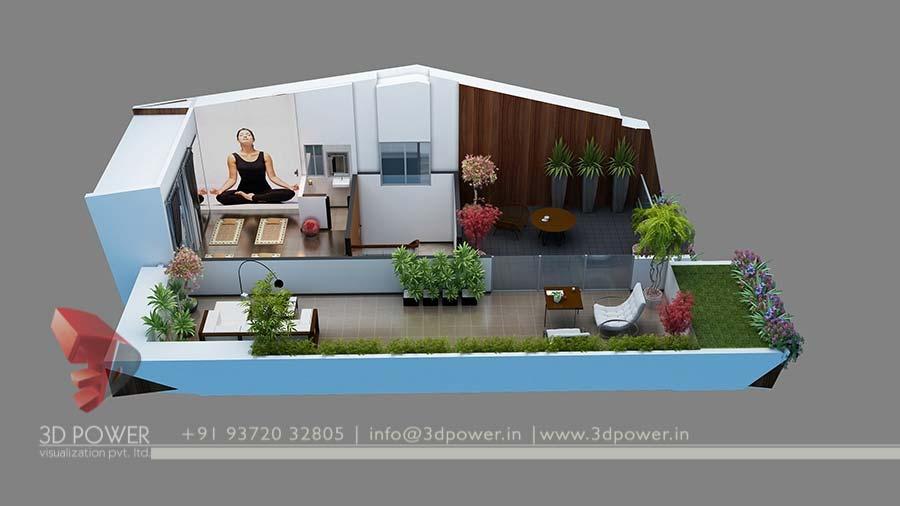 Bungalow Design House 3d Floor Plan