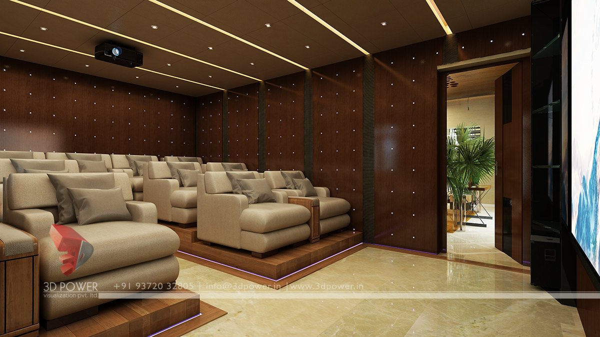 Modern 3d interiors design 3d house interior design 3d power Home cinema interior design ideas