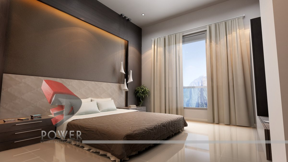 Modern 3d interiors design 3d house interior design 3d for Interior decoration for bedroom pictures