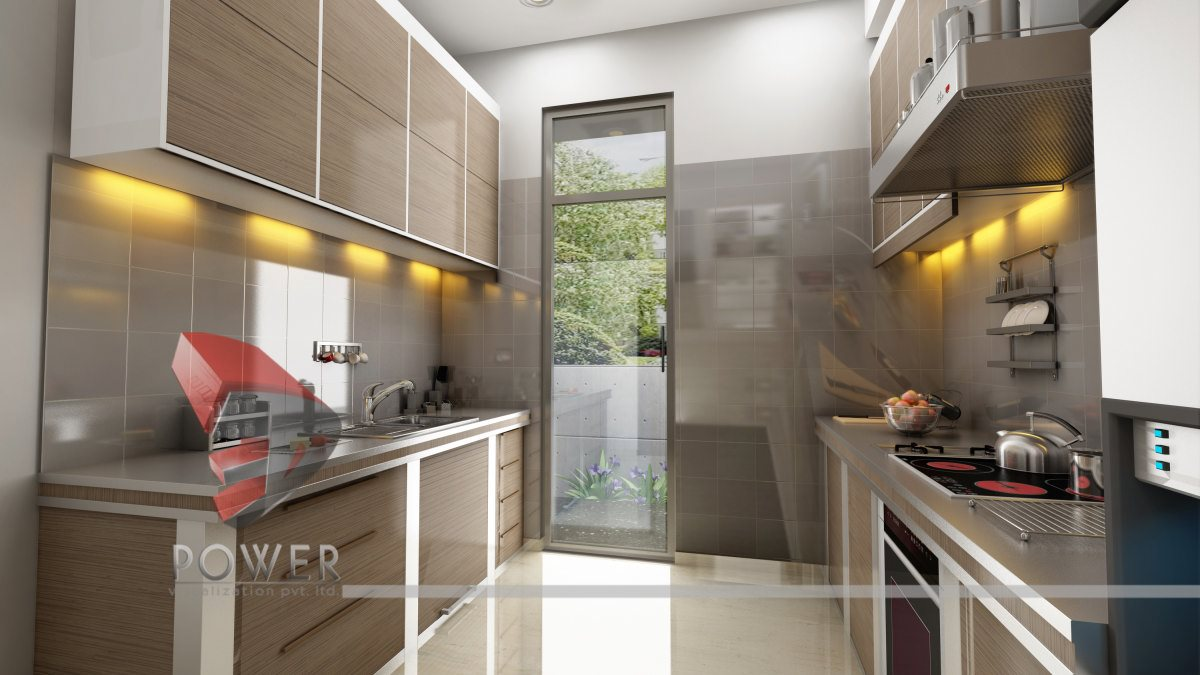 Modular kitchen interiors 3d interior designs 3d power for Kitchen interior ideas