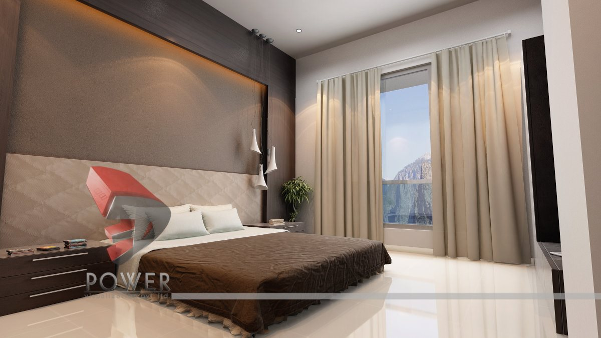 Drawing room interior living room design 3d power for Drawing room bed design