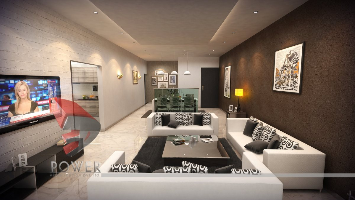Interior Design 3D Rendering