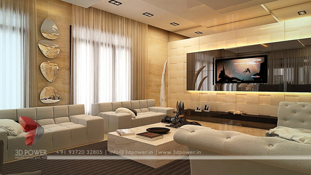 Modern living room interior interior design 3d rendering for 3d interior design of living room