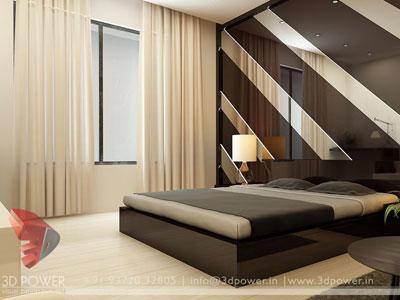 3d architectural bedroom interior design