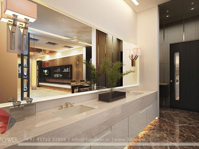 3d bathroom modern design