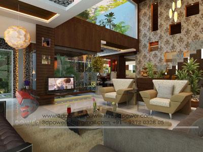 3d Living Room Inertior View