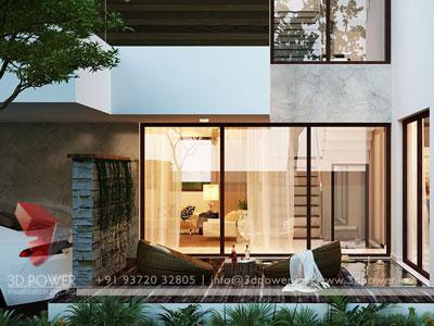 3d Living Room Outdoor View