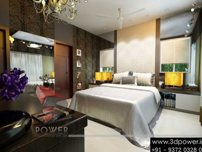 extravagant 3d view bedroom