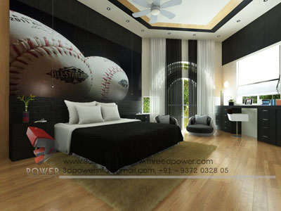 Modern 3d Rendering Bedroom Iran
