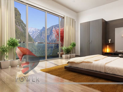 Modern 3d View Bedroom Australia