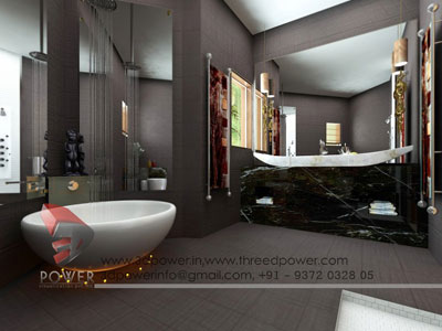 realistic view bathroom