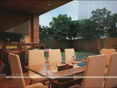 family restaurant landscape designing 3d night view rendering