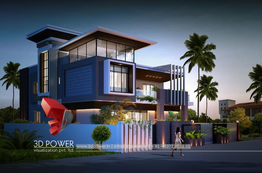 3d bungalow walkthrough bungalow interior 3d walkthrough for Exterior design of small house in india