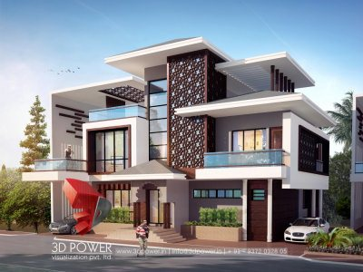 bungalow 3d exterior visualization rendering