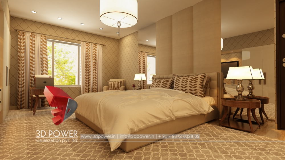 Renders 3d For Master Bedroom Project: Contemporary Interiors Design