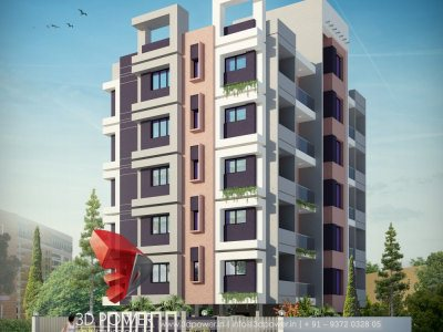 apartment 3d architectural exterior visualization rendering