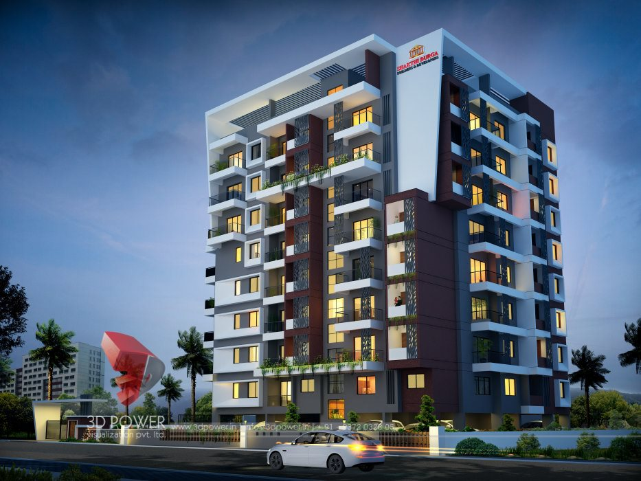 Architectural Rendering Building Nagpur Power