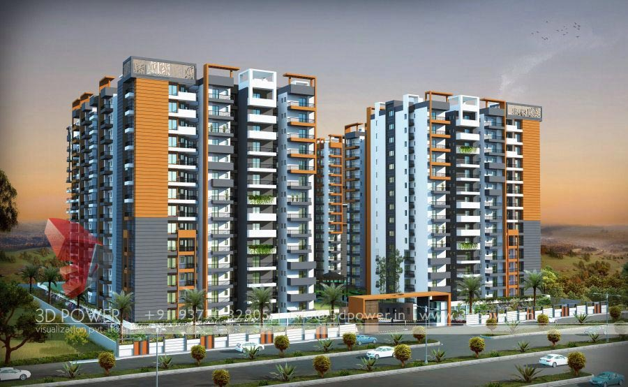Apartment Building Design Concepts architectural apartment guntur | 3d power