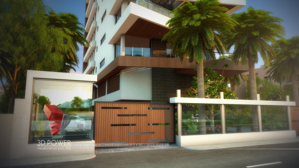 Front View House Elevation : Apartment floor plan ganjam d power