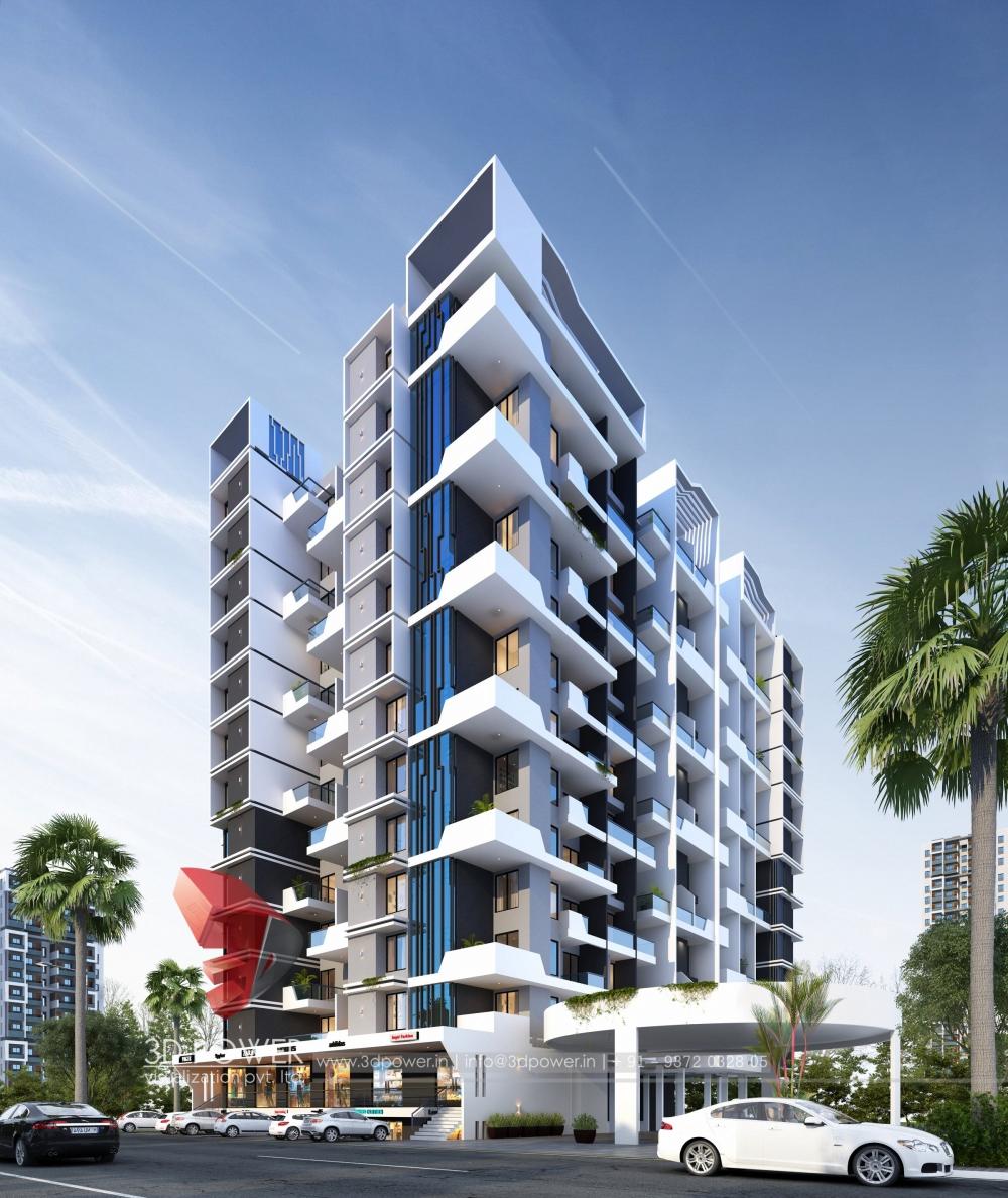 Architectural Apartment Rendering: Apartment Architectural Pune