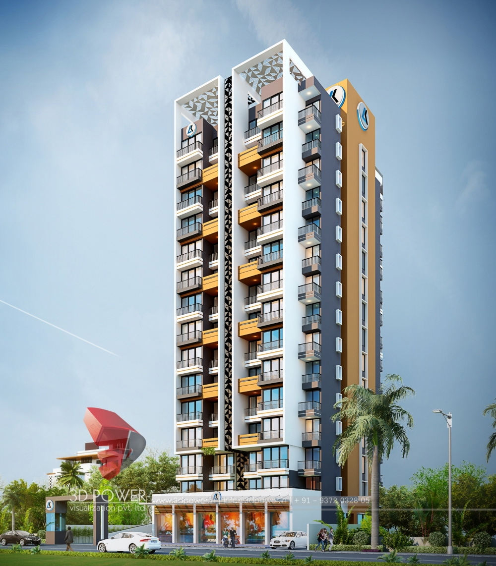 Residential Exterior Services: Apartment Visualization Hyderabad
