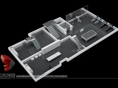 3D CutSection Rendering Apartment