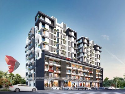 3d-modeling-rendering-hyderabad-commercial-apartment-front-design