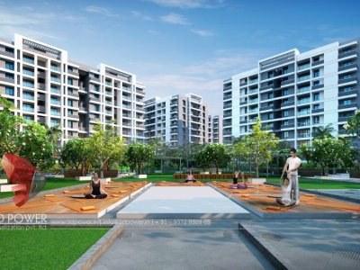 front-visualization-apartment-parking-architectural-rendering-services-pune