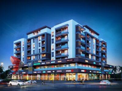 plaza-front-elevation-modern-commercial-building-design-pune