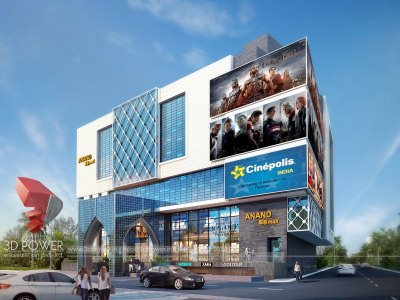 plaza-rendering-architectural-visualization-punemodern-commercial-building-design