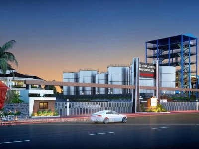 pune-admin-building-architectural-rendering-factory-gate-elevation-design
