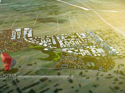 township-walkthrough-birds-eye-view-pune-3d-power