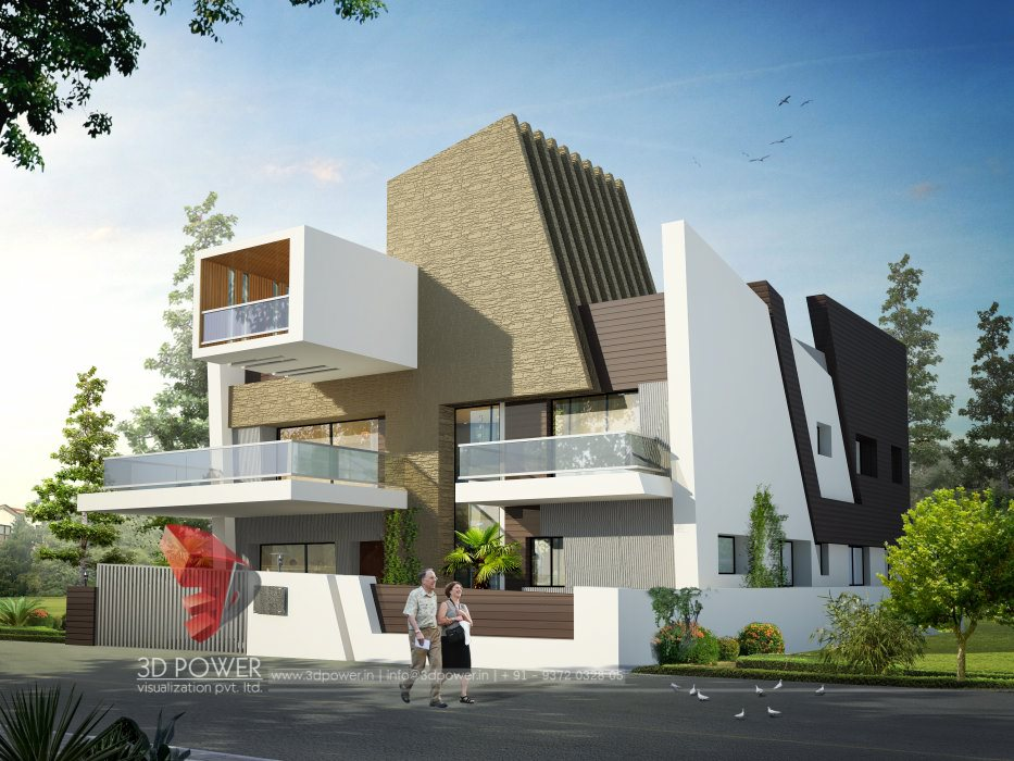 Architecture bungalow nagpur 3d power for Bungalow plans and elevations