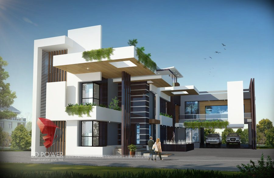 Bungalow floor plans jaipur 3d power - Best exterior design of house in india ...