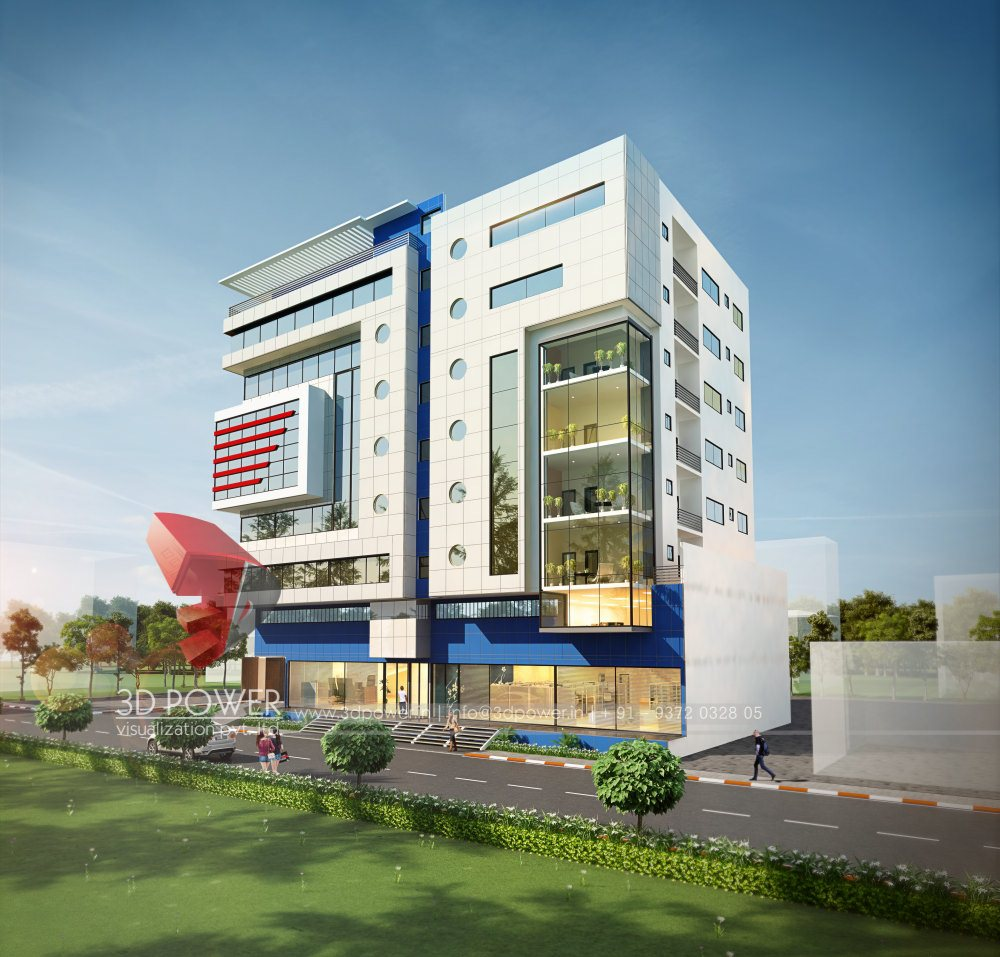 Hotel Exterior: Architectural 3D Rendering