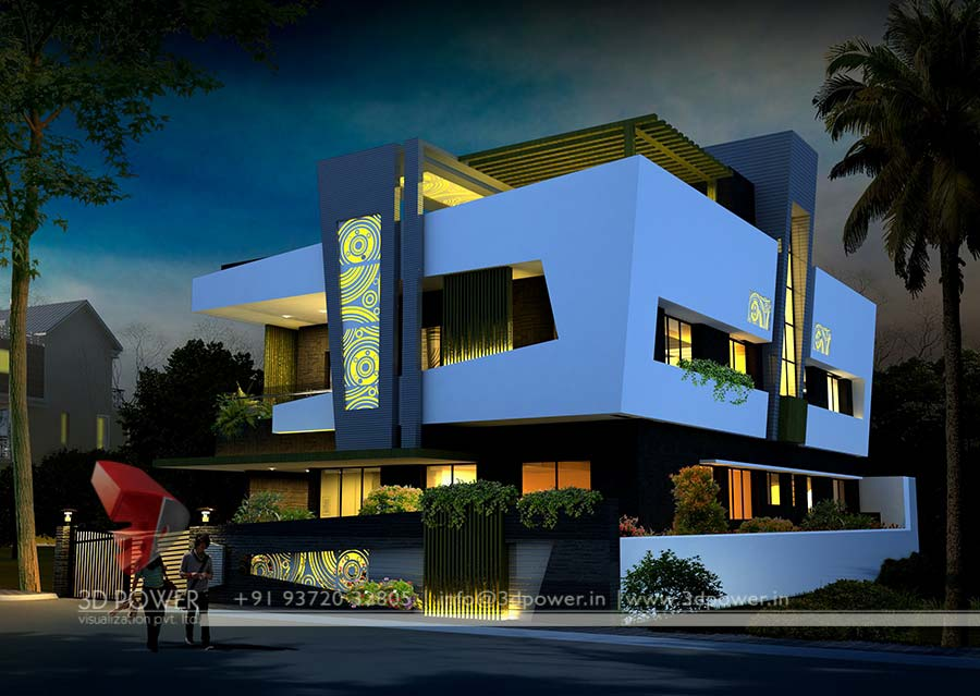 Animation Bungalow Nanded 3d Power