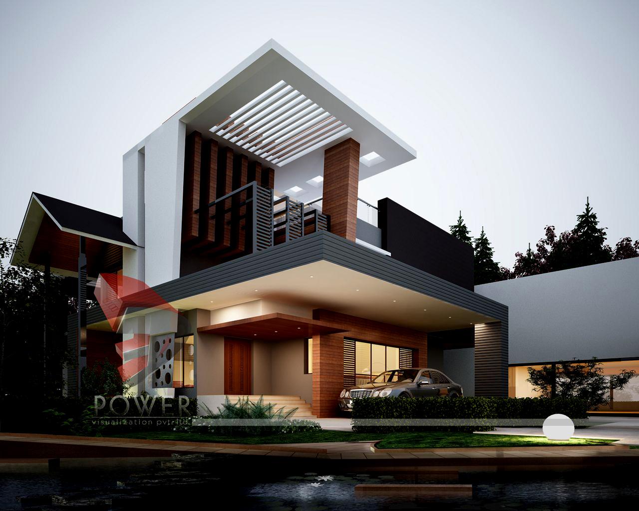 3D Bungalow Exterior | 3D Bungalow Rendering | 3D Power