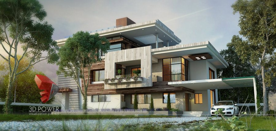 Bungalow house plans shimla 3d power for Latest architectural house designs