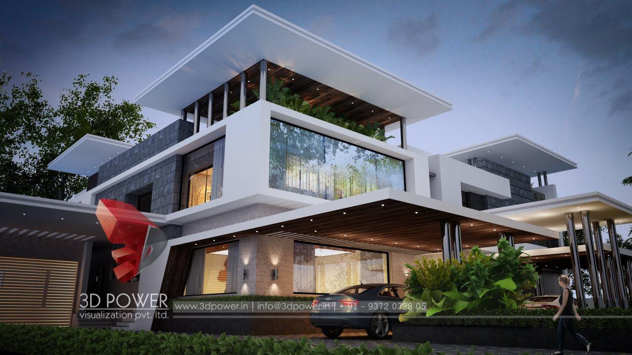 Bungalow home plans amritsar 3d power for Architecture bungalow design