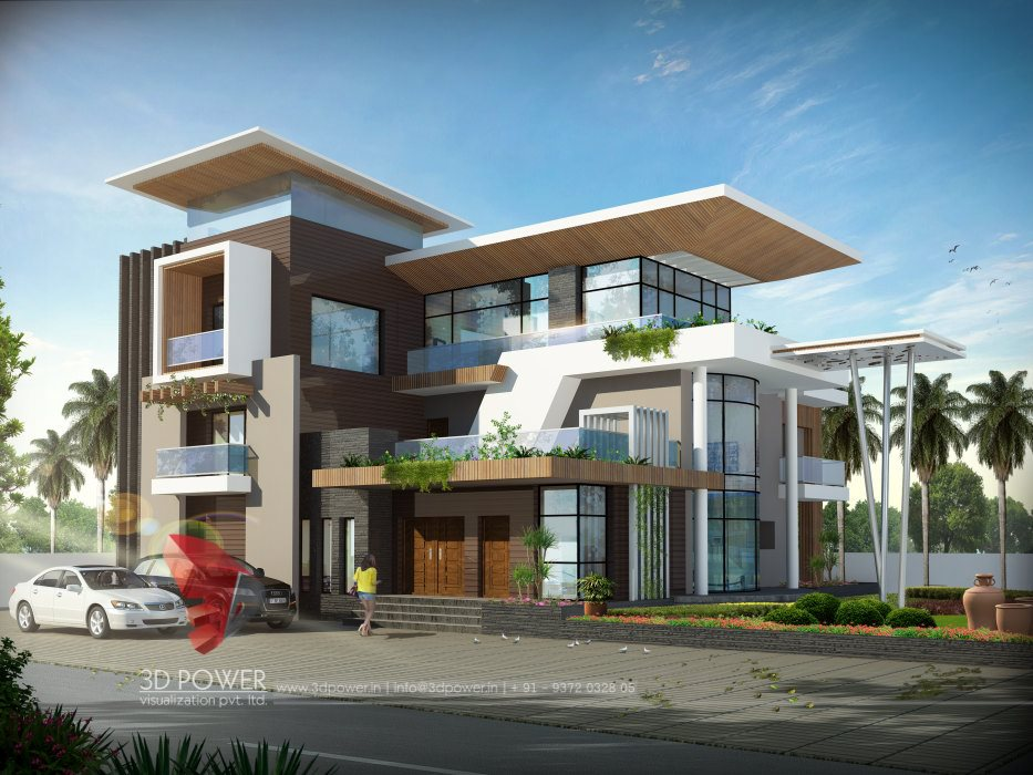 Bungalow render cuttack 3d power for Latest architectural design