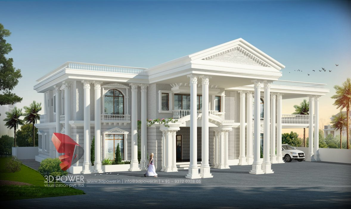 Architectural Bungalow Thane 3d Power